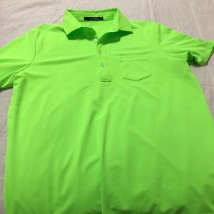 Polo Ralph Lauren lime green golf shirt (L).